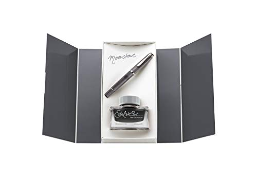 Pelikan 816939 - Penna stilografica a stantuffo Classic M205 Moonstone F + gemma Ink of The Year 2020 Moonstone 50 ml