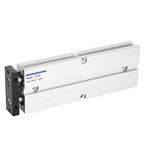 Cilindro de Aire Neumático Aleación de Aluminio Antióxido Tn16 0.1‑0.9Mpa 10‑200 Mm Componentes Neumáticos de Doble Acción(Tn16X200‑S)