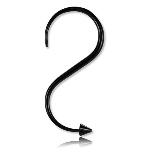 Blitzschuh Stahl schwarz Spitze–Durchmesser 2mm