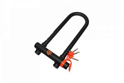 Maggi Black TWIN SLIM hangslot met speciale low-profile versie met U-beugel, van verzinkt staal, met 3 sloten en afsluitbaar slot met meerdere schijven 83 x 260 mm