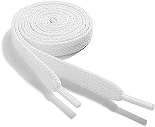 Lacets plats, lacets résistants 100% cotton, 1 paire. Plusieurs couleurs et longueurs disponibles. Compatible avec Nike, A...