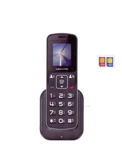 Lexstar LX-3GN Dual Sim GSM Cordless Landline Phone (Jio Not Supported)