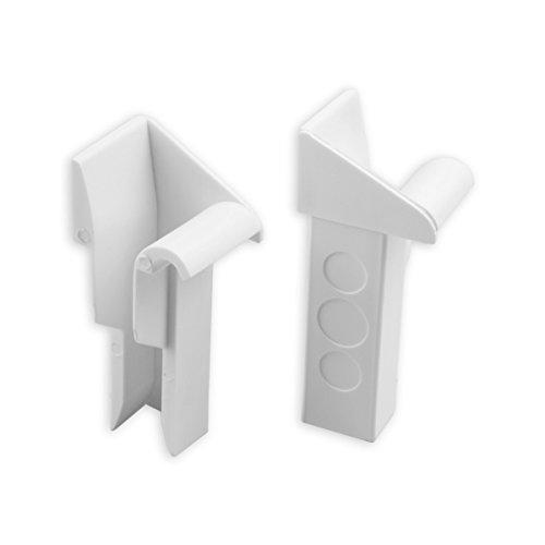 DIWARO® Einlauftrichter (rechts/links) für Mini Aluminium-Führungsschiene   20 mm   weiß   Paar