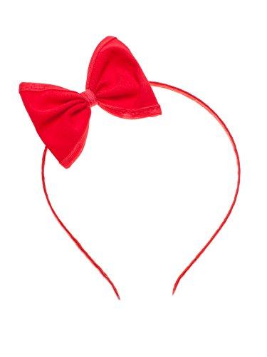 SETRINO Haarreifen mit Schleife rot mit roten Rand