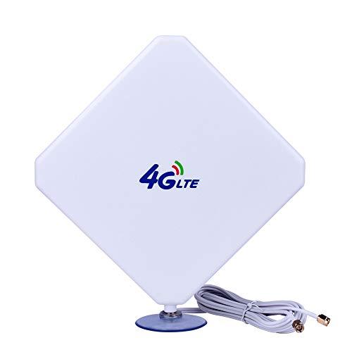 SMA 4G-Antena, 4G LTE Antena Dual Mimo 35dBi Alto Ganancia Red Ethernet Al Aire Libre Antena Receptor Amplificador Booster para WiFi Router Banda Ancha Móvil (SMA 35dBi) Aigital