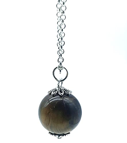 TENET – Colgante esfera 18/20 mm con cadena plateada inoxidable (ojo de falco)