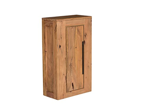 Woodkings® Hängeschrank Auckland Echtholz Akazie massiv Badmöbel Badezimmer Wandschrank Badezimmerschrank Badschrank Massivholz