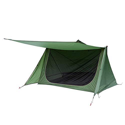 SSGLOVELIN 3 Saison-Zelt Ultra Shelter Baker Art Zelt for Bushcrafters & Survivalists Camping Jagd Wandern (Color : Green)