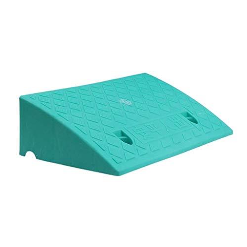 DJSMsnj - Rampas de plástico para bordillos de bordillo para silla de ruedas, coche, vehículos, bicicleta, barco, remolque, asistencia de aparcamiento, 13 cm (color: verde)