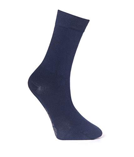 YDS - Calcetines de deporte para exteriores, algodón, flexible, duradero azul marino M