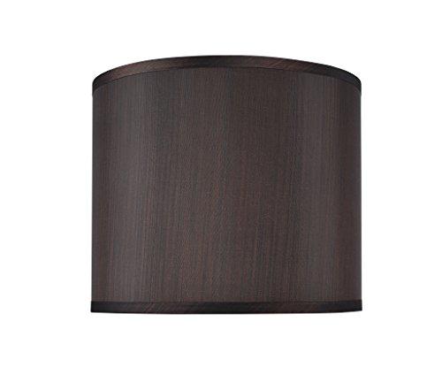 Aspen Creative 31086, Transitional Drum (Cylinder) Shaped Construction Black, 12