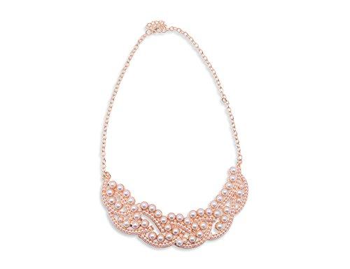 Original Enez XXL Damen Kette Halskette Necklace Choker Collier Perlen 50cm R537