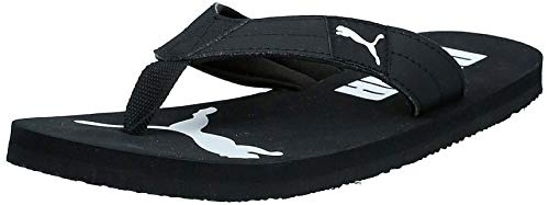 Puma Unisex-Erwachsene Cozy Flip Dusch-& Badeschuhe, Black White 01, 42 EU