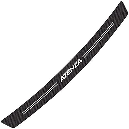 Coche Fibra de Carbono Protector de Parachoques Trasero,para Mazda Atenza Cubierta de la Placa del Umbral del Maletero Trasero Anti-Arañazos Protector Pegatinas,Accesorios Estilo Coche