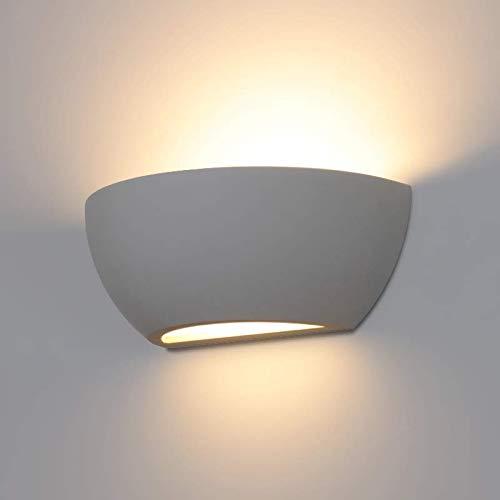 LED/Halogen Leuchte GIPS Design Wandleuchte PLASTER.14 Weiss IP20 E14 Fassung Innenlampe Wandlampe Wandleuchte Flurleuchte 230V