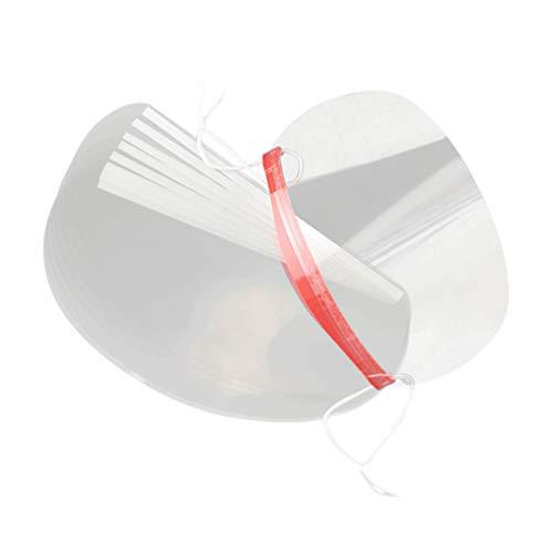 Lurrose 50 Piezas de Peluquería Máscara de Protección Facial Desechable Máscara de Protección Facial Transparente Herramientas de Corte de Cabello para Peluquería Salón de Belleza