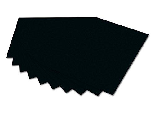 folia 6190 - Fotokarton Schwarz, 50 x 70 cm, 300 g/qm, 10 Bogen - zum Basteln und kreativen Gestalten von Karten, Fensterbildern und für Scrapbooking
