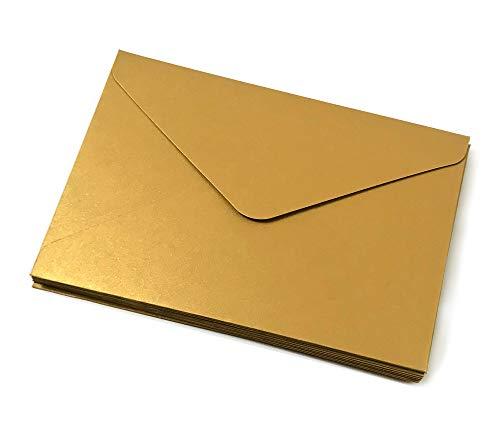 "10 Stk. BRIEFUMSCHLÃ""GE matt gold/Briefkuvert/Kuvert/Format C5 (23 x 16 cm) aus stabilem Feinstkarton (450 g/m2) / Kuvert/Briefkuvert/Briefumschlag"
