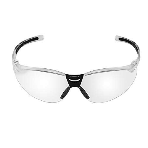 TKPOLD Gafas de Seguridad de PC Gafas de protección UV Gafas de Motocicletas Dust Wind Splash Proof La Resistencia de Impacto Gafas para Montar en Bicicleta Camping (Color : Clear)