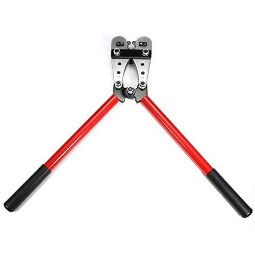 Zlinina Herramienta de mano Alicates, terminales de los cables de la batería giratoria Lug Crimper Crimp pesada ERMINAL 8-4/0 herramienta que prensa 10-120mm