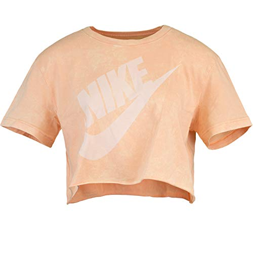 Nike Futura Washed Crop Top naranja XS