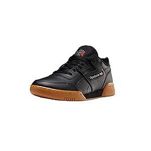 Reebok Men's Workout Plus Sneaker, Black/Carbon/Classic Red, 10.5