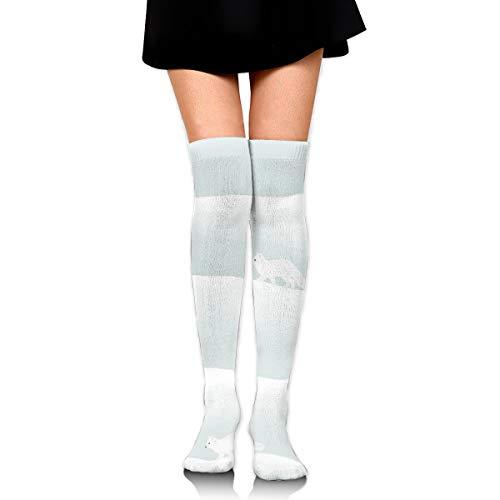 Unbekannt Artic Foxes Overknee-Oberschenkelsocken Kniestrümpfe High Boot Oberschenkel Frauen Socken für Cosplay, tägliches Tragen