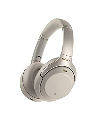 Sony WH-1000XM3 Noise Cancelling Wireless Headphones with Mic, 30 Hours Battery Life, Quick Charge, Gesture Control, Ambient Sound Mode, with Alexa Built-in – Silver from Sony