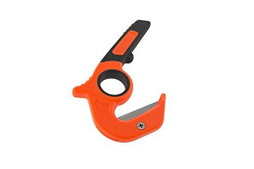 Gerber 31-002745 Vital Aufreißwerkzeug, Trapezklinge aus SK5 Stahl, ABS-Kunststoffgriff, zweifarbiges Textiletui, 2 Ersatzklinge Cutter, Mehrfarbig, One Size