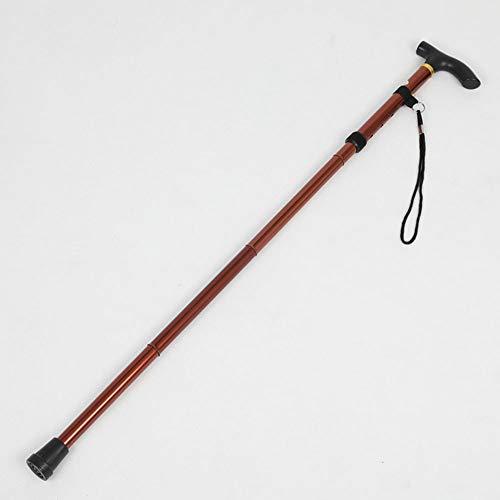 Liu Bergstok/wandelstok, T-vormige handgreep, lichtgewicht verstelbare aluminiumlegering wandelstok voor ouderen, mensen met een handicap enz.