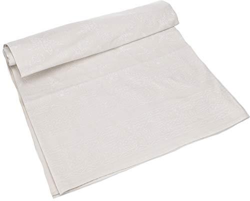 Guru-Shop Blockdruck Tagesdecke, Bett und Sofaüberwurf, Handgearbeiteter Wandbehang, Wandtuch - Design 9, Weiß, Baumwolle, Größe: Double 225x275 cm, Tagesdecken mit Blockdruck