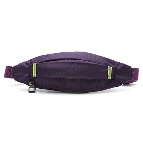 Dabixx unisex sportiva da ciclismo fascia auricolare cintura in vita confezione borsa della tasca, Nylon, Purple, 31cm x 12cm/12.02' x 4.72'