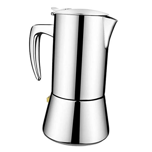 Fityle Stainless Steel Espresso Coffee Maker Latte Percolator Stovetop Coffee Pot, Best Xmas Gift for Coffee Lover, 2 Sizes to Choos - 300ml