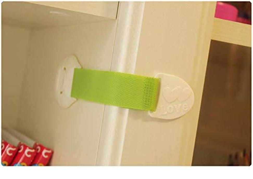 ナビゲーション送った自分自身heqian キャビネット、引き出し、冷蔵庫、ドア、オーウェン、便座、家電用多用途 ベビー&チャイルドセーフティロック 10パックチャイルドプルーフラッチシステム 追加の3M接着剤付き Green