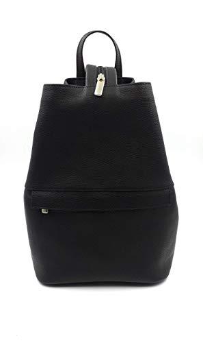franartPiel - Bolso, mochila para mujer hecho en Piel Ubrique - Alta Calidad - Negro