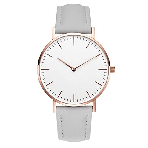 OWZSAN Mujeres Rose Gold Watch Mujeres Pulsera Relojes Top Marca Señoras Casual Reloj De Cuarzo Reloj De Pulsera De Mujer Montre Montre Femme Relogio Reloj Digital (tamaño : Leather Gray)