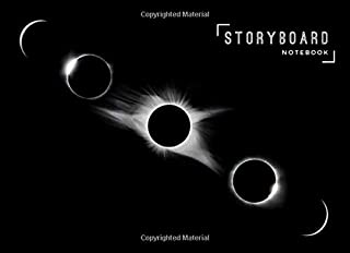 Storyboard Notebook: 8.25 x 6 in, 6 Panel 16:9, 250 Pages, Lunar Eclipse Theme