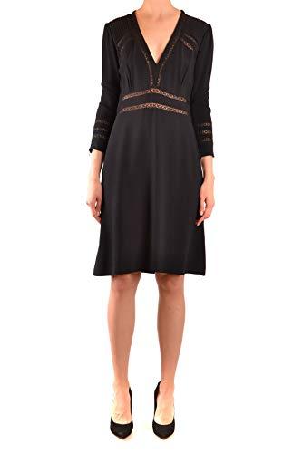 BURBERRY Luxury Fashion Damen MCBI38103 Schwarz Viskose Kleid | Jahreszeit Outlet