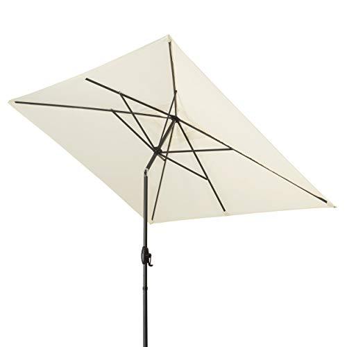 Derby Basic Lift NEO 250x200 – Rechteckiger Sonnenschirm – Höhenverstellbar – ca. 250x200 cm – Natur