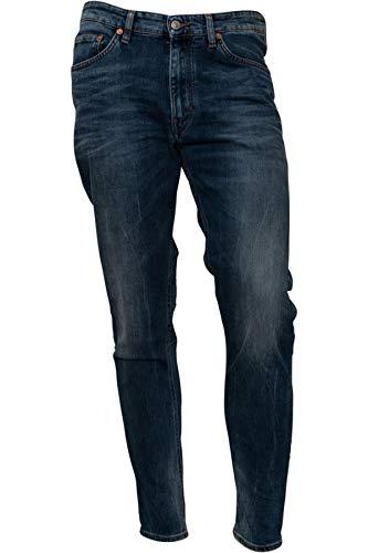 Drykorn Herren Jeans Deep in Used-Blau 34W / 34L