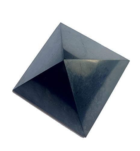 Polierte Schungit-Pyramide aus Russland, 5 cm, Edelstein, EMF-Schutz, Heimdekoration, Geschenk, Heilkristall.