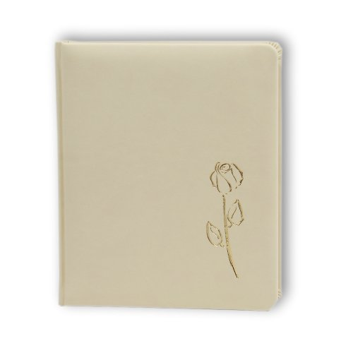 Passepartout Fotoalbum creme weiß B Goldene Rose 13x18