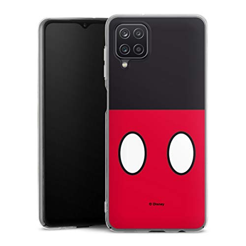 DeinDesign Hard Case kompatibel mit Samsung Galaxy A12 Schutzhülle transparent Smartphone Backcover Mickey Mouse Disney Offizielles Lizenzprodukt