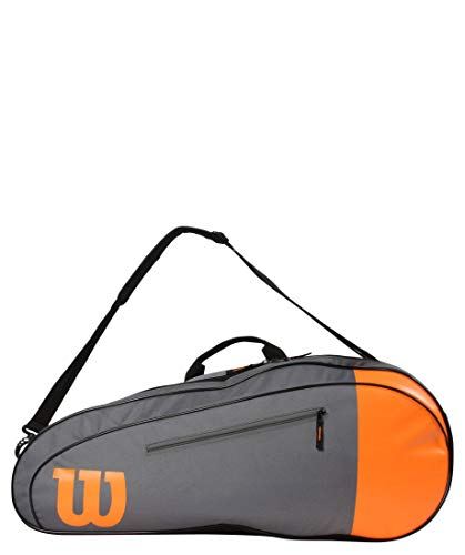 Wilson Bolsa de Tenis Unisex WR8009801, Color Negro y Naranja