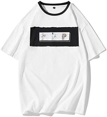 Whittie Camiseta de Hombre Parche de Manga Corta Camisa con ...