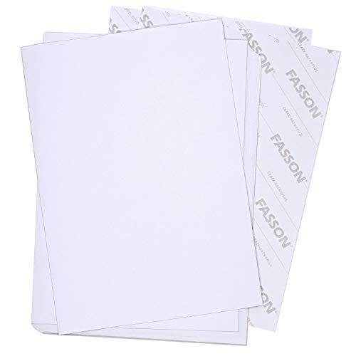 Premium Haftpapier DIN A4 I 25 Blatt in weiß matt I FASSON Crack Back-Plus I Klebe Papier Aufkleber selbstklebend bedruckbar I AZ_051