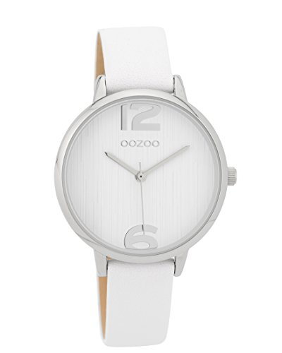 Oozoo Damenuhr mit Lederband 36 MM Weiss/Weiss C9575