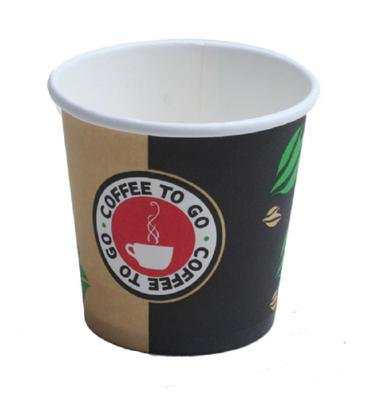 Espressobecher to go - Hartpapier - Becher 100ml Pappbecher Espresso (1000)
