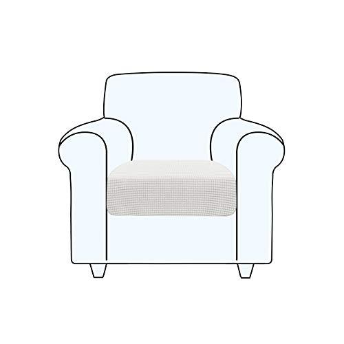 TAOCOCO Fundas de cojín para sofá, Protector de cojín de Asiento de Tela de poliéster de Alta Elasticidad (Blanco Ostra, 1 Asiento)