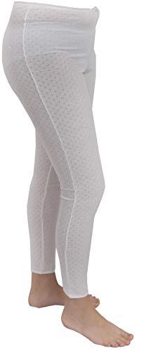 WARMLAND® 6 x Thermische T-shirt met korte mouwen voor dames of lange John Janes, Warm Ski Wear/Underwear Broekvestenset [Maten S M L XL 2XL; Kleur: wit]